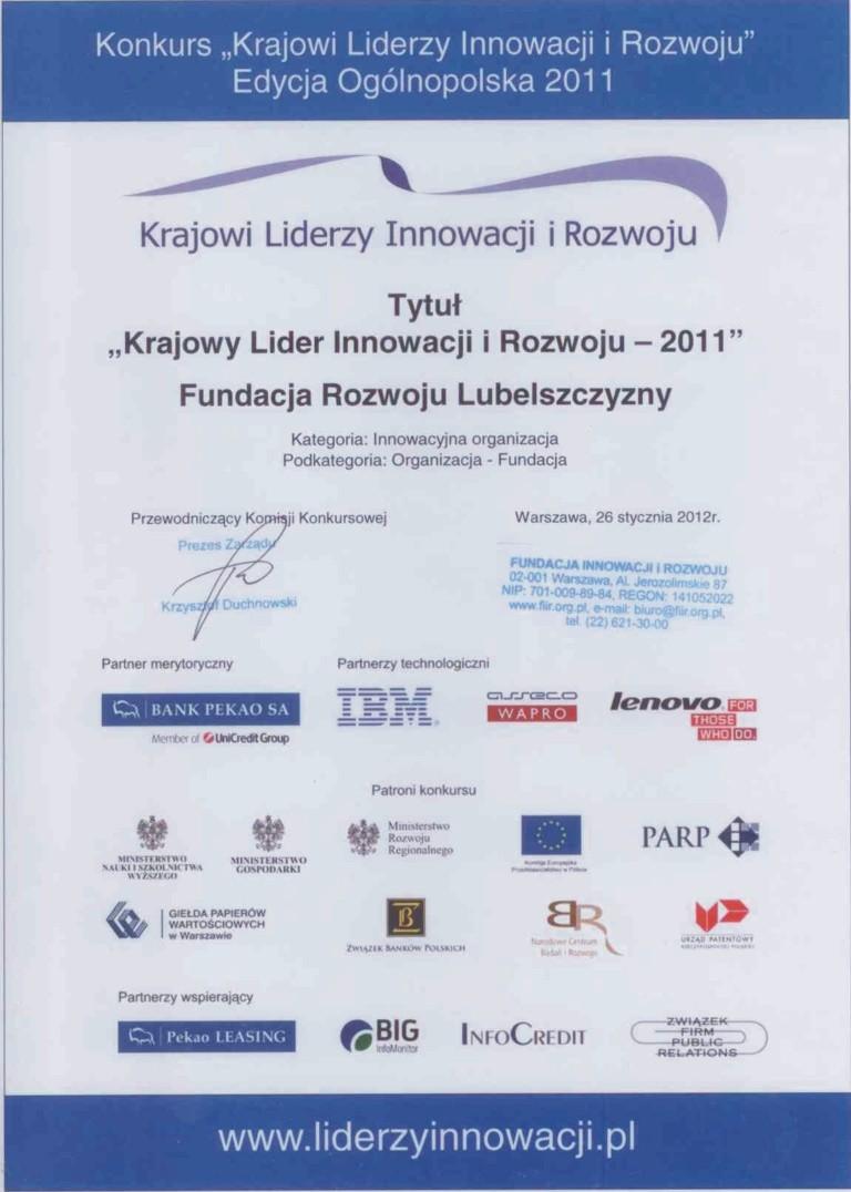 2012_01_26_Krajowy_Lider_Innowacji_i_Rozwoju_2011